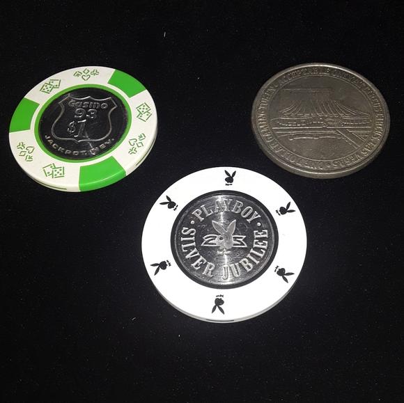 3 Vtg Casino Chips Playboy Club Jackpot Vegas lot